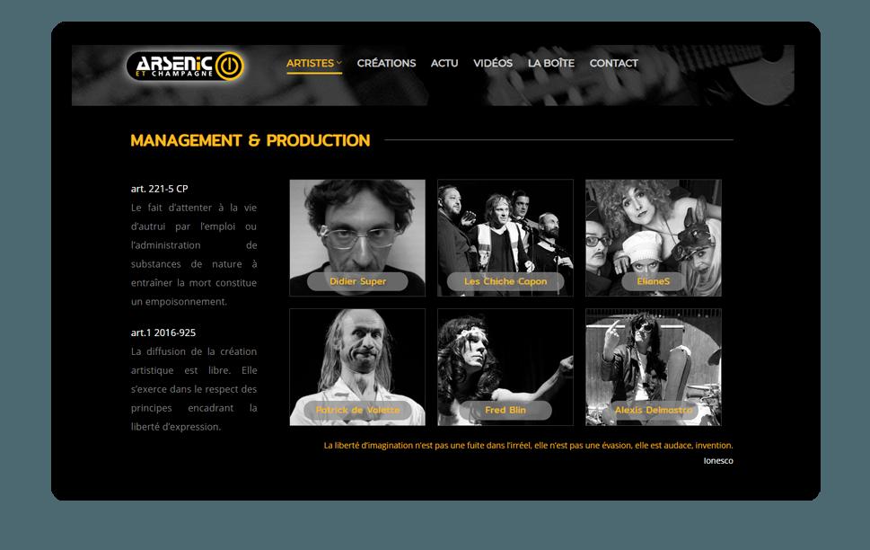 Un producteur de spectacle doiy avoir un site web de qualité.