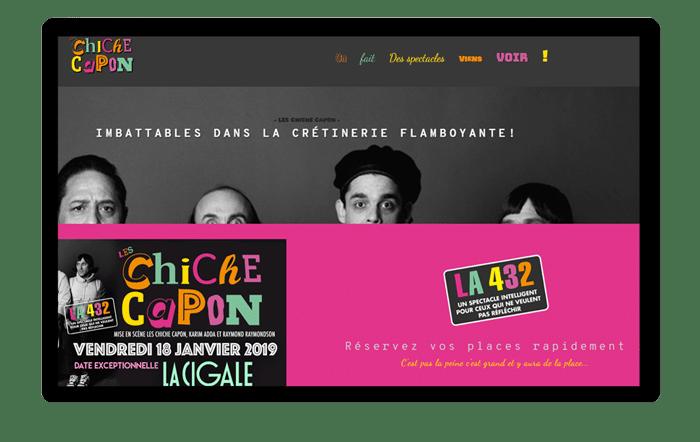 Un troupe de spectacle doit créer un site internet.