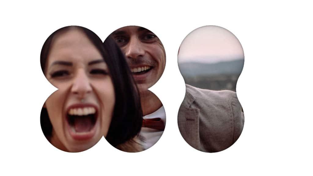 Photographe et vidéaste à destination des artistes du spectacle vivant. Cette image représente un couple avec une artiste du spectacle qui hurle de bonheur.